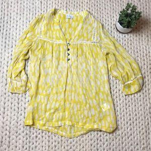 Anthropologie Yellow blouse